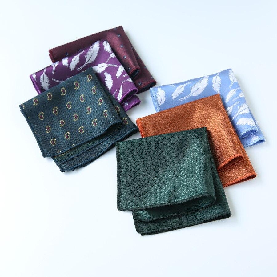 2019 New Spot Manufacturers Wholesale Suit Retro Pocket Towel Men's Suit Handkerchief New Pocket Square Can Be Customized