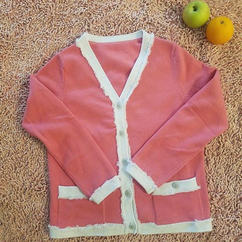 Automne Paragraphe Femme Qualité Nouveau Manteau Haute Glands red De Cardigan Colour Pink Long Chandails orange Femmes 2018 Chandail Hiver HWngnqv47
