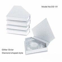100 шт накладных ресниц упаковочная коробка Пользовательский логотип бесплатно поддельные 3D норка для ресниц коробки искусственные фареты случае полная полоса пустой контейнер
