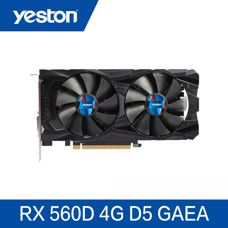 Yeston Radeon Rx560D 4Gb Gddr5 Pci Express 3.0 Directx12 Video Gaming Graphics Card External Graphics Card For Desktop image