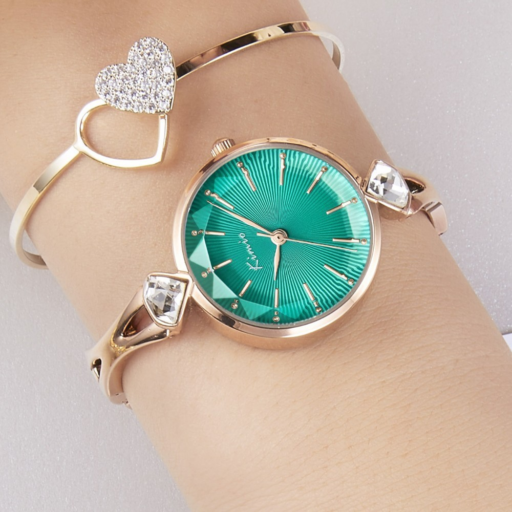 KIMIO Casual Dress Elegant Crystal Ladies Watches Women Fashion Watch 2019 Top Brand Luxury Female Wristwatch Relogio Feminino