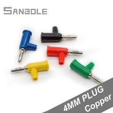 цена на 4mm Banana Plug Connector Copper Gun Type Insert Screw No-Welding Banana Plug Socket Colorful (10PCS)