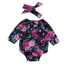 Newborn Toddler Kids Baby Girl One Piece Swimsuit Apparel Romper Floral Flower Print Swimwear Monokini Bikini 2018 New