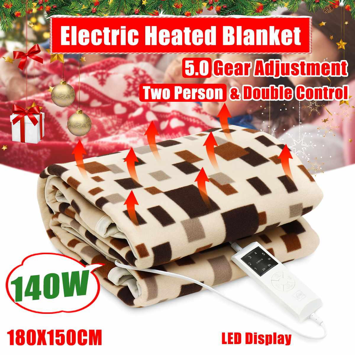 Electric Blanket Thicker Heater Double Body Warmer 180*150cm Heated Blanket Thermostat Electric Heating Blanket Electric HeatingElectric Blanket Thicker Heater Double Body Warmer 180*150cm Heated Blanket Thermostat Electric Heating Blanket Electric Heating