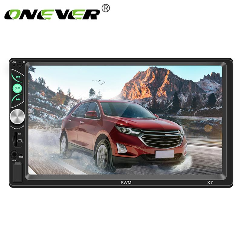 Onever 2 Din 7 Inch Auto Car MP5 Video Player Bluetooth Stereo Audio Player Support For Mirror Link Steering Wheel Control
