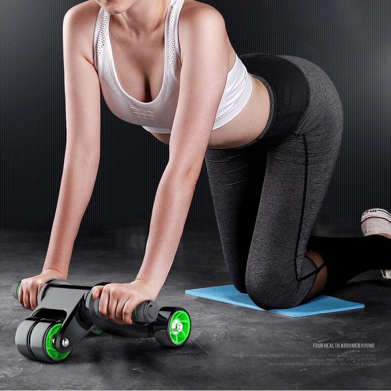 Rouleau pliant abdomen accueil femmes et ventre formation roue abdominale hommes appareil de fitness équipement de roue