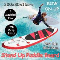 320x80x15cm Inflatable Stand Up Paddle Board Exercise Training Surfboard Paddle Board Water Sport Sup Board With Hand Pump