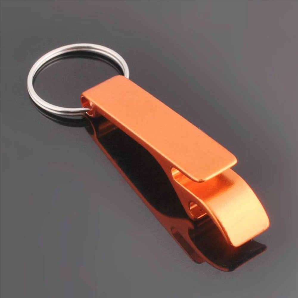 Brelok do kluczy otwieracz do butelek do piwa kieszeni metalowe metalowe podział narzędzie brelok luzem narzędzie kuchenne do baru akcesoria z pazur Bar