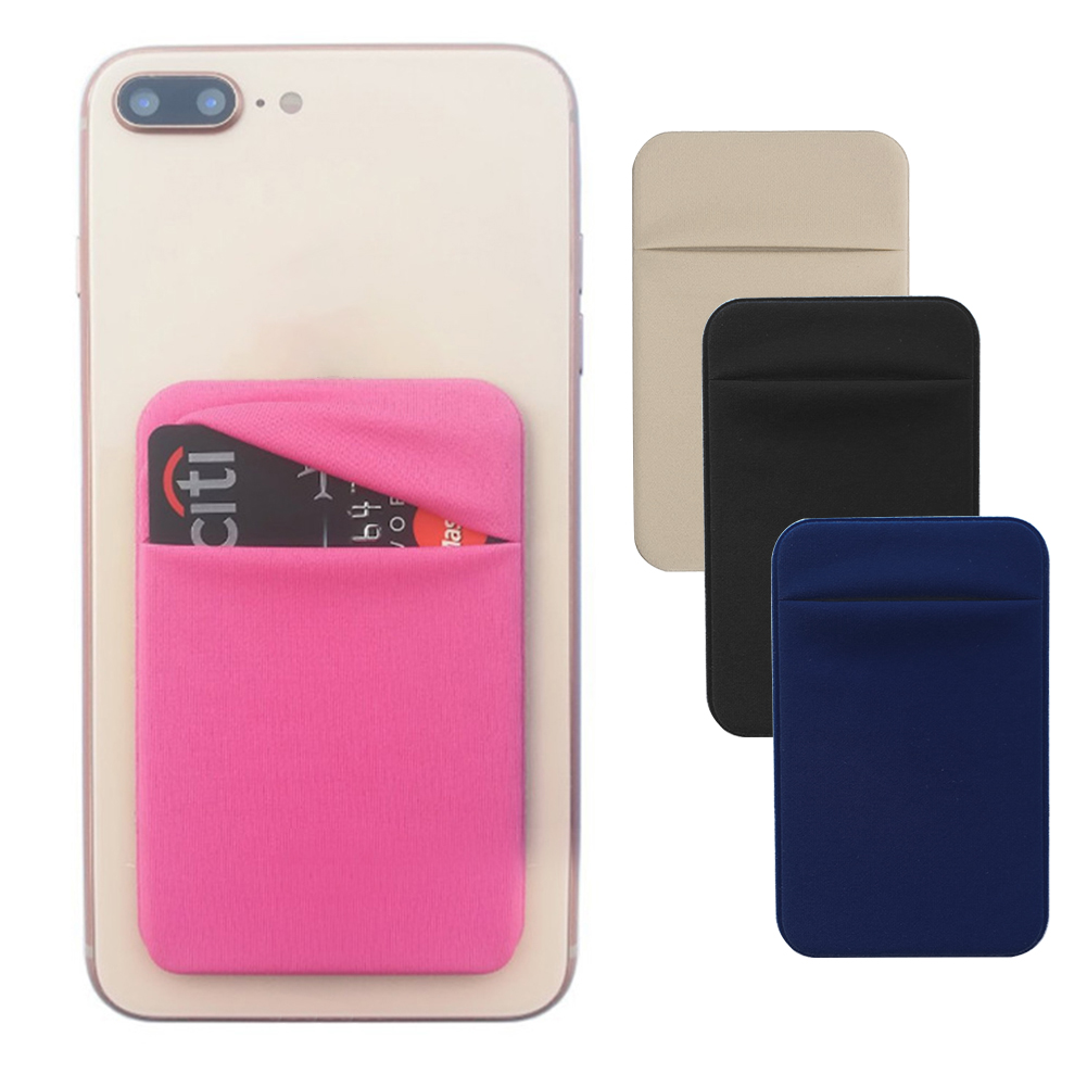 Removable Stick-on Universal Case Slim Pocket Credit Mini Pouch Card Holder Adhesive Wallet Phone Back
