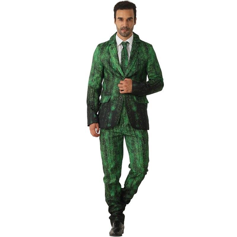 Adulte vert conception de données pirate prétendant fantaisie Costume fou Costume Halloween