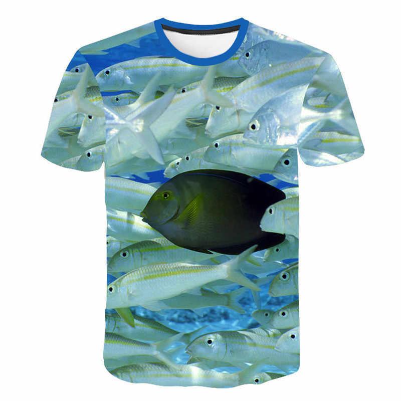 חלב משי 3D דגי הדפסת T חולצה גברים בגדים קצר שרוול חולצה אוקיינוס בעלי החיים הדפסת גברים טי למעלה היפ הופ מצחיק אימוניות קיץ