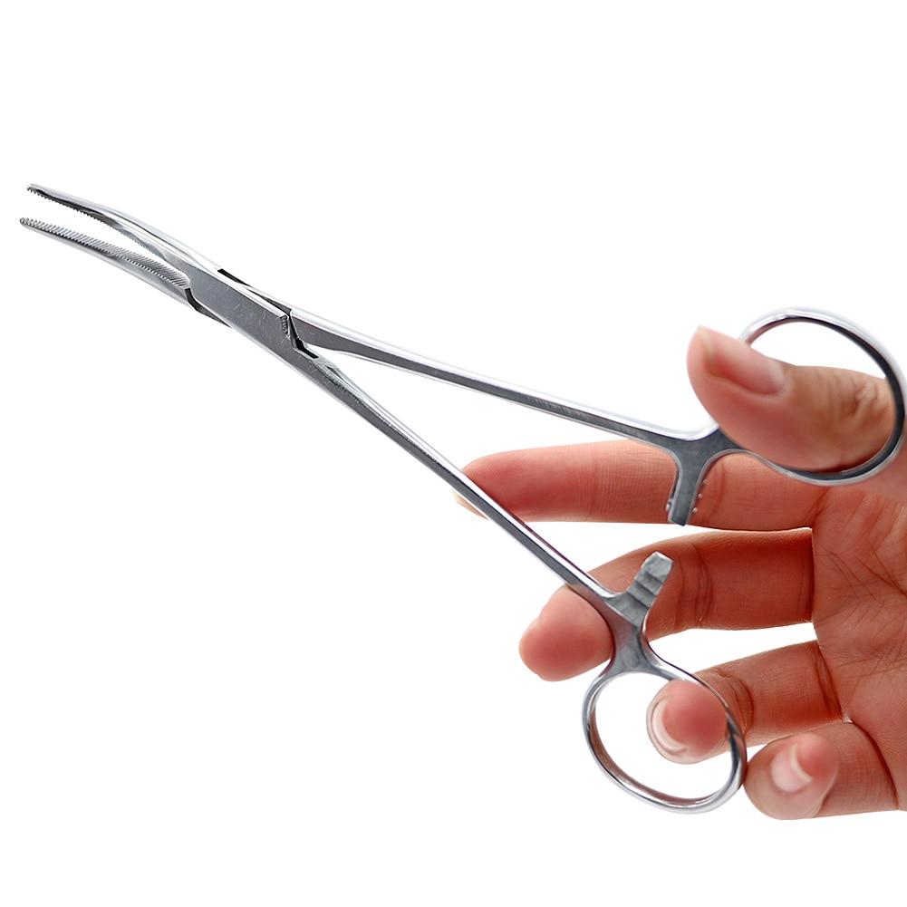 1pc Medical Dental Surgical Curved Hemostatic Forceps 14cm/16cm/18cm Stainless Steel