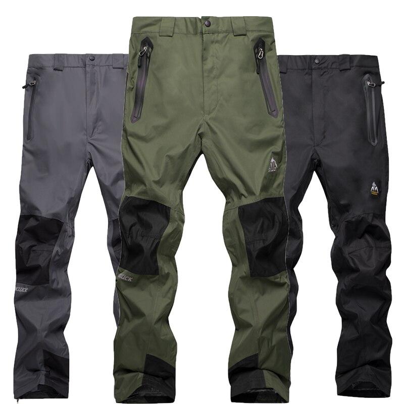Winter Men Outdoor Mountaineering Riding Trekking Warm Fleece Trousers Snowboard Windproof Waterproof Double Ski Male Pants