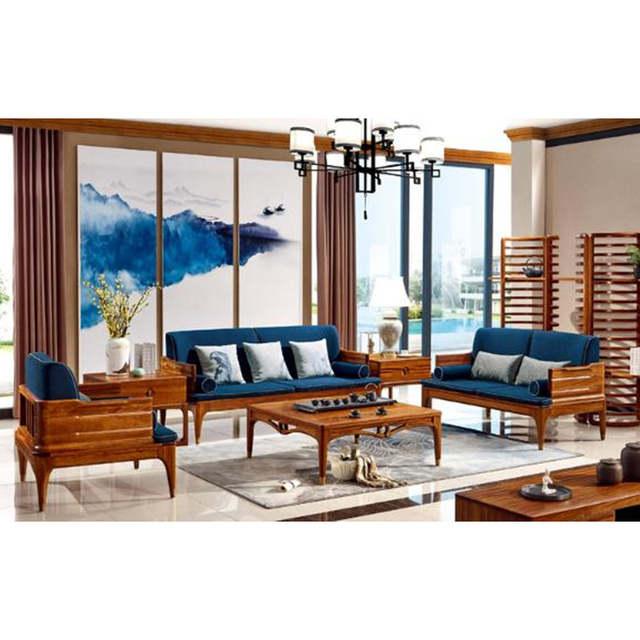 wood lounge sofa set living room furniture Modern Chinese Wooden furniture  love seat design sofas china chair sofas divano 2019