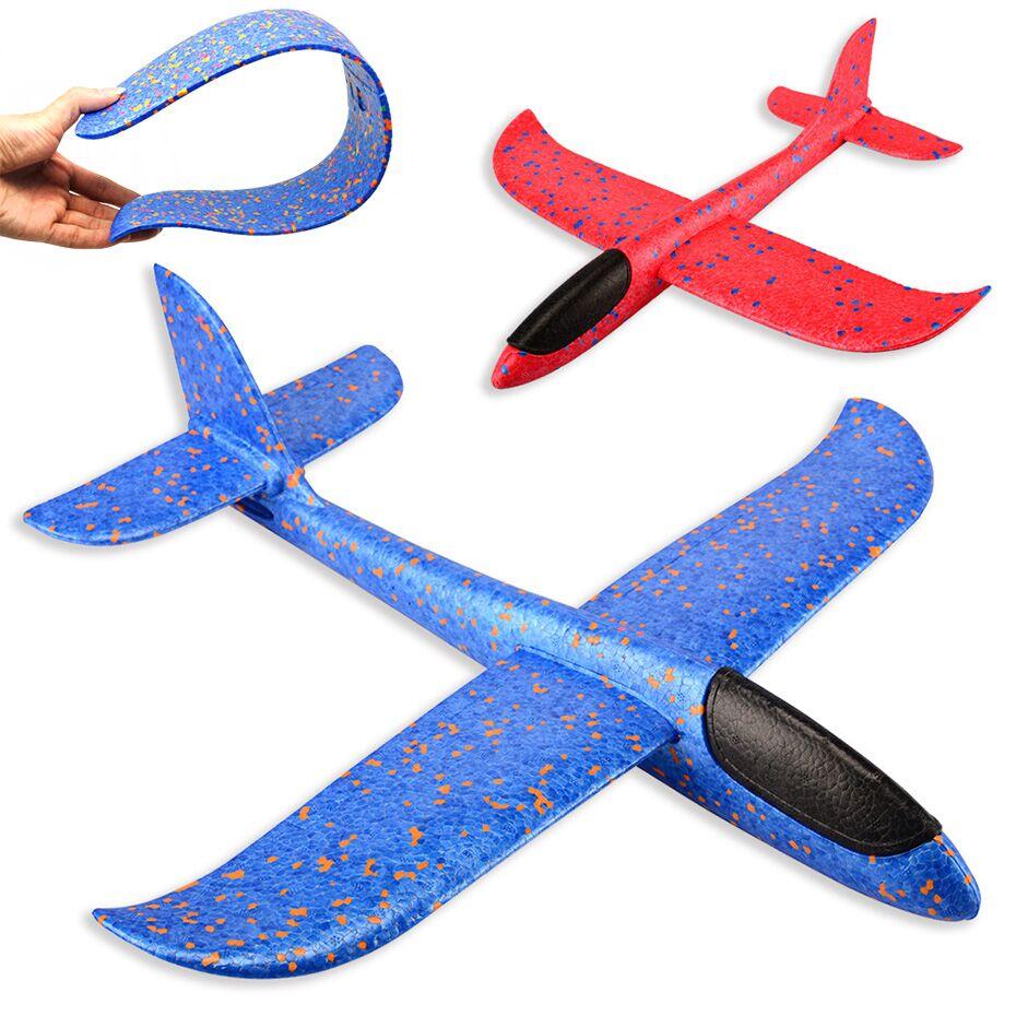 48CM EPP Foam Hand Throw Airplane Outdoor Launch Glider Plane Toss Throwing Glider Inertia Model Kids Gift Interesting Toys