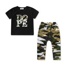 Kids Fashion Clothes Children Set Camouflage T-shirt Tops Long Pants Boys Clothing Set Cotton Boys Clothes Set Cute Kids Outfits цена 2017