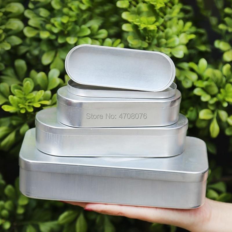 Sterile Needle Box Aluminium Acupuncture Tool Case Oval Pin Box Rectangle Syringe Case Medical Safety Box 5/10/20ml 6pcs/pack