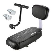 Детское сиденье для заднее сиденье для велосипеда с спинка Детская безопасность багажник велосипеда с ручкой подлокотник подножка заднего сиденья педаль
