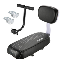 Child Seat For Bicycle Rear Seat With Back Rest Child Safety Bike Rear Seat With Handle Armrest Footrest Rear Seat Pedal