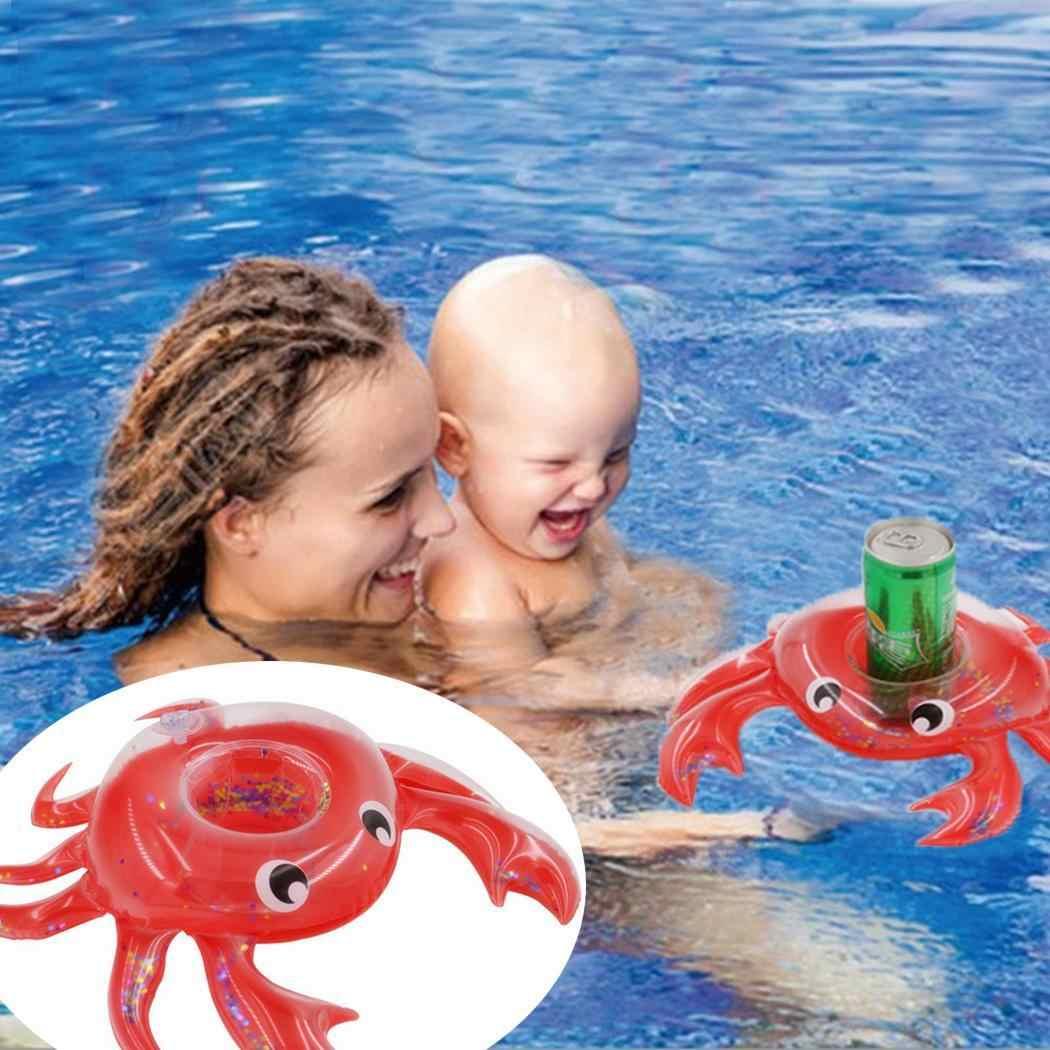 1 шт мини плавающая чашка держатель детские игрушки для купания вечерние напитка лодки детский бассейн игрушки надувные подставки Краб держатель для напитков