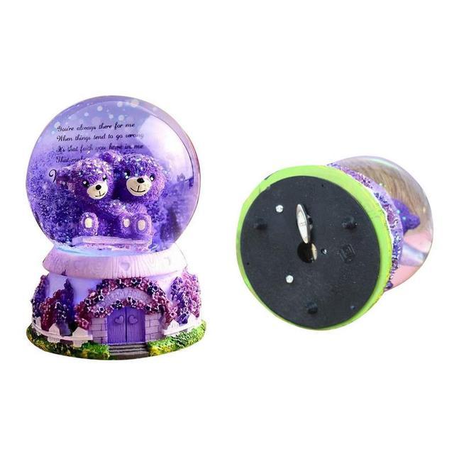 Cartoon Bears Snow Globe Music Box