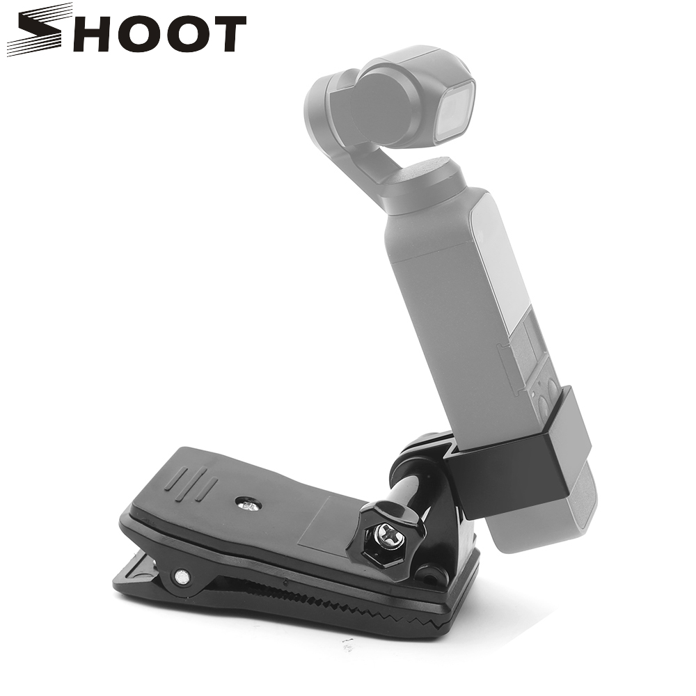 SHOOT Backpack Clip For Dji Osmo Pocket Expansion Bracket Handheld Stand Holder Tripod Adapter For Dji Osmo Pocket Accessories
