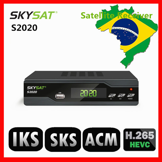 US $51 24 16% OFF|[Brazil] SKYSAT S2020 Twin Tuner IKS SKS VOD ACM IPTV M3U  Xtream code H 265 Satellite Receiver stable server for South America-in