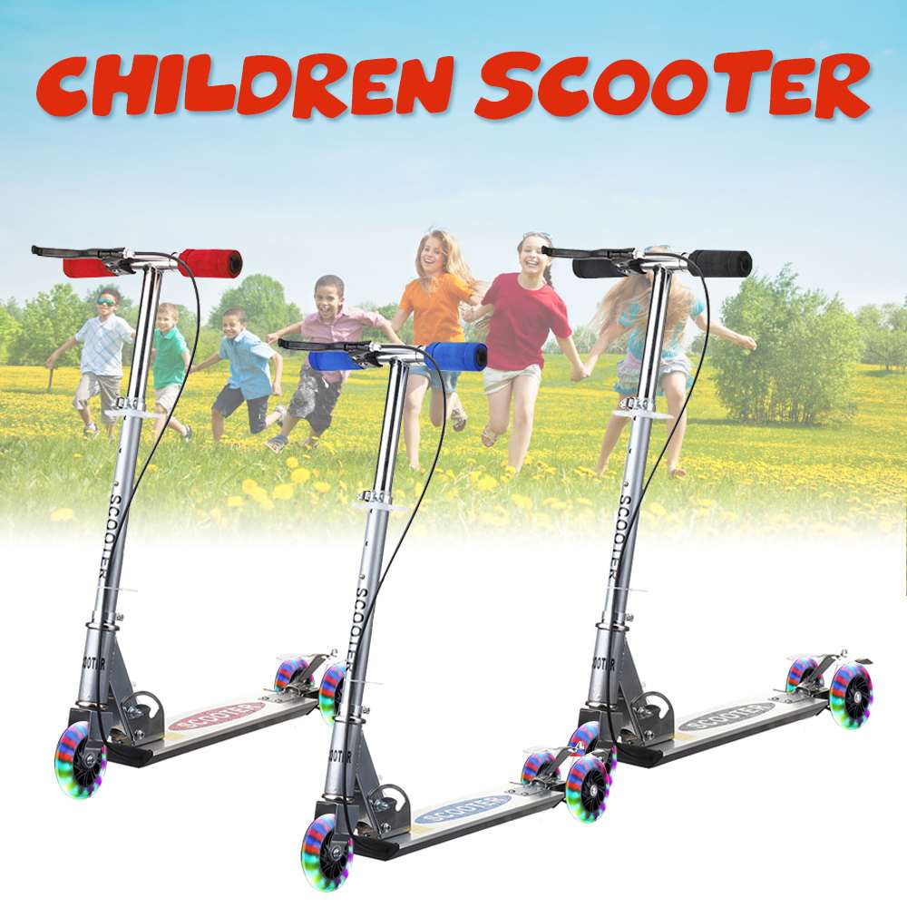 Height Adjustable Kick Scooter for Kids with 3 Wheels 1