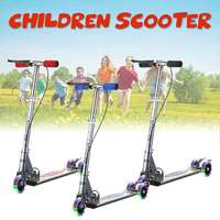 Kick Scooter 3 wheel folding Aluminum Alloy Scooter kids Adjustable Height Flashing Light Wheel Foot Scooters Toys Gifts