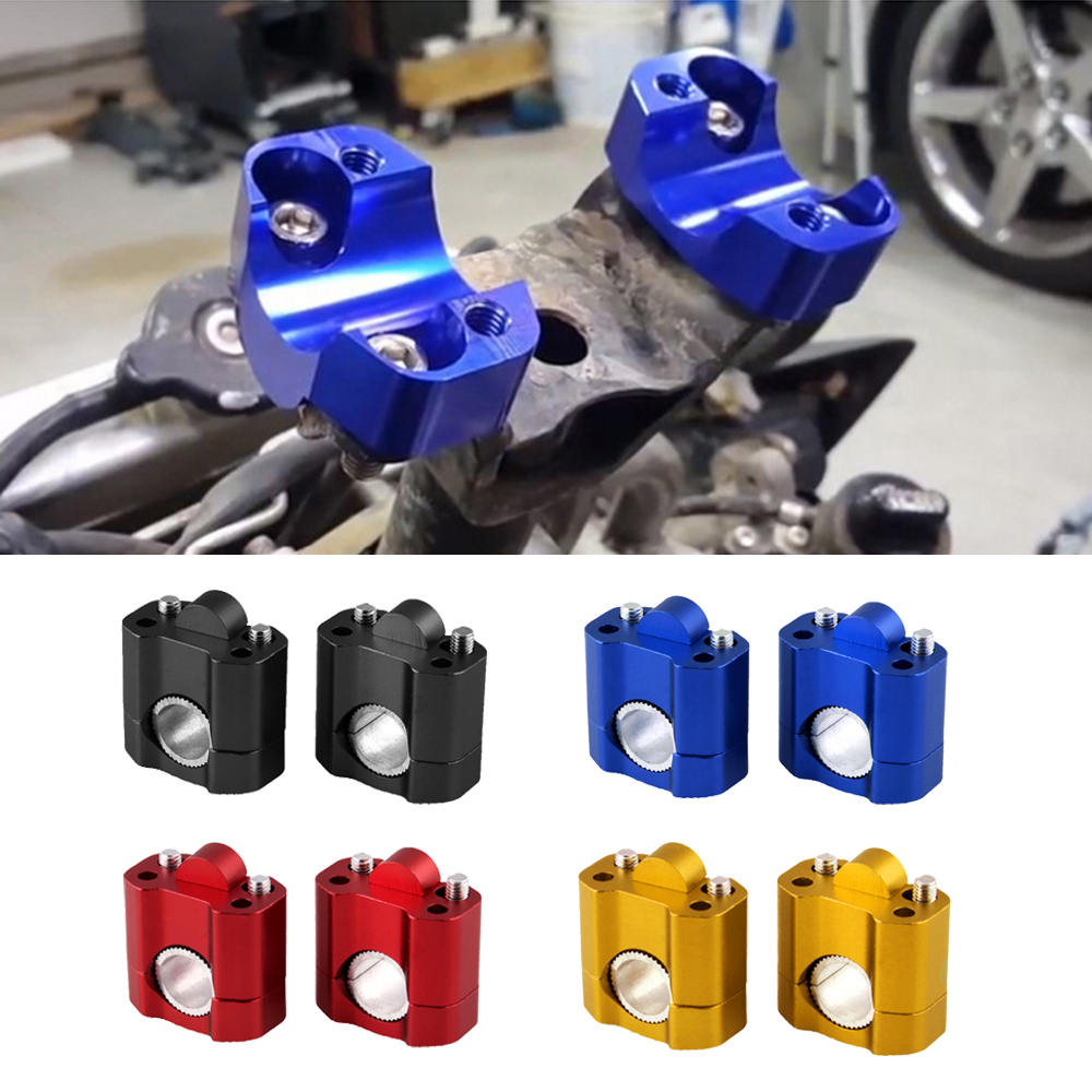 2pcs <font><b>28mm</b></font> Universal Motorcycle <font><b>HandleBar</b></font> Handle Fat Bar Mount Clamps <font><b>Riser</b></font> with Bolts image