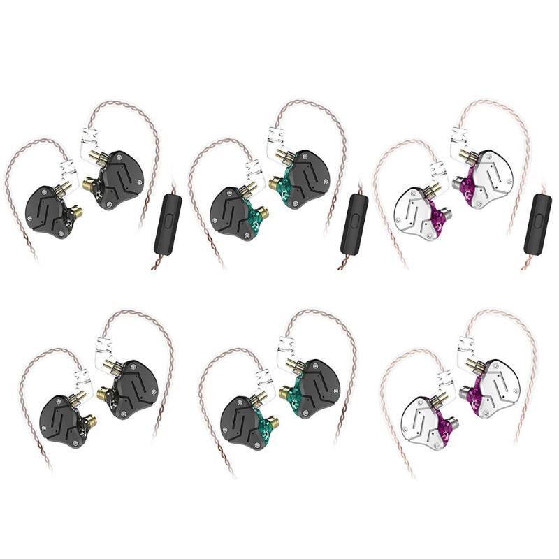 KZ ZSN 1DD+1BA Armature Dual Driver Earphone Detachable In Ear Audio Monitors Noise Isolating HiFi Music Sports Earphone Earbuds цена
