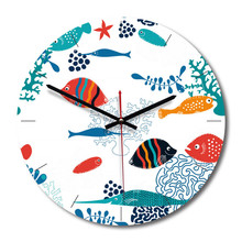 New 3D Wall Clock Cartoon Acrylic 28cm For Living Room Silent Movement Watch Home Decoration Dropshipping