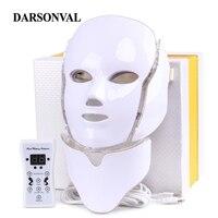 Светодио дный маска Красота Антивозрастная маска светодио дный маски для лица фототерапии угорь удаления морщин лица Красота машина уход з