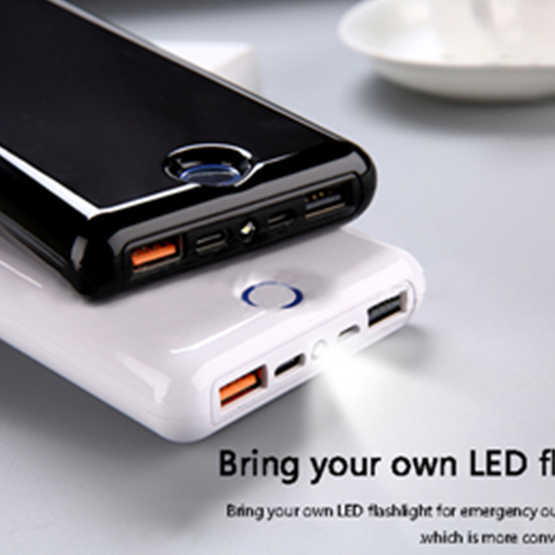 20000mAh <font><b>Power</b></font> <font><b>Bank</b></font> <font><b>USB</b></font>-C QC 3.0 Portable Charger Dual <font><b>USB</b></font> <font><b>20000</b></font> <font><b>MAh</b></font> Powerbank External Battery Pack image