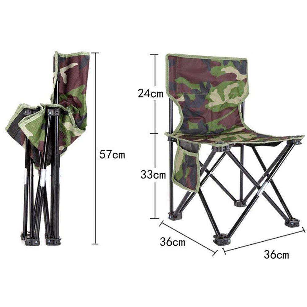NHBR-Mini Portable Folding Stool Folding Camping Stool Outdoor Folding Chair for BBQ Camping Fishing Travel Hiking Garden