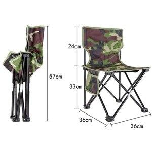 Image 5 - NHBR Mini taşınabilir katlanır tabure katlanır kamp taburesi açık katlanır sandalye barbekü kamp balıkçılık seyahat yürüyüş bahçe