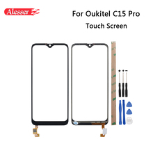 Alesser For Oukitel C15 Pro Touch Screen Panel Repair Parts For Oukitel C15 Pro Touch Panel + Tools + Adhesive Phone Accessories dynacord mb c15 umh