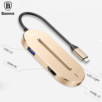Baseus TYPE C HUB Interface Expander For TYPE C 3.1 to 3* USB 3.0 + 1* HDMI + 1* USB C Multi function Converter OTG Adapter
