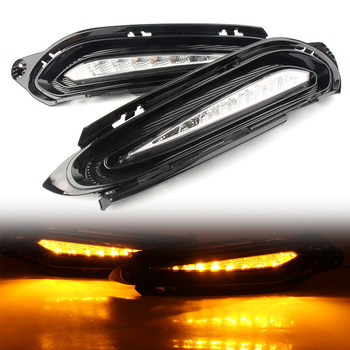 1 Pair Car LED Daytime Running Lights For Honda HRV Vezel 2015 2016 2017 2018 Auto DRL Fog Lamp Turn Signal