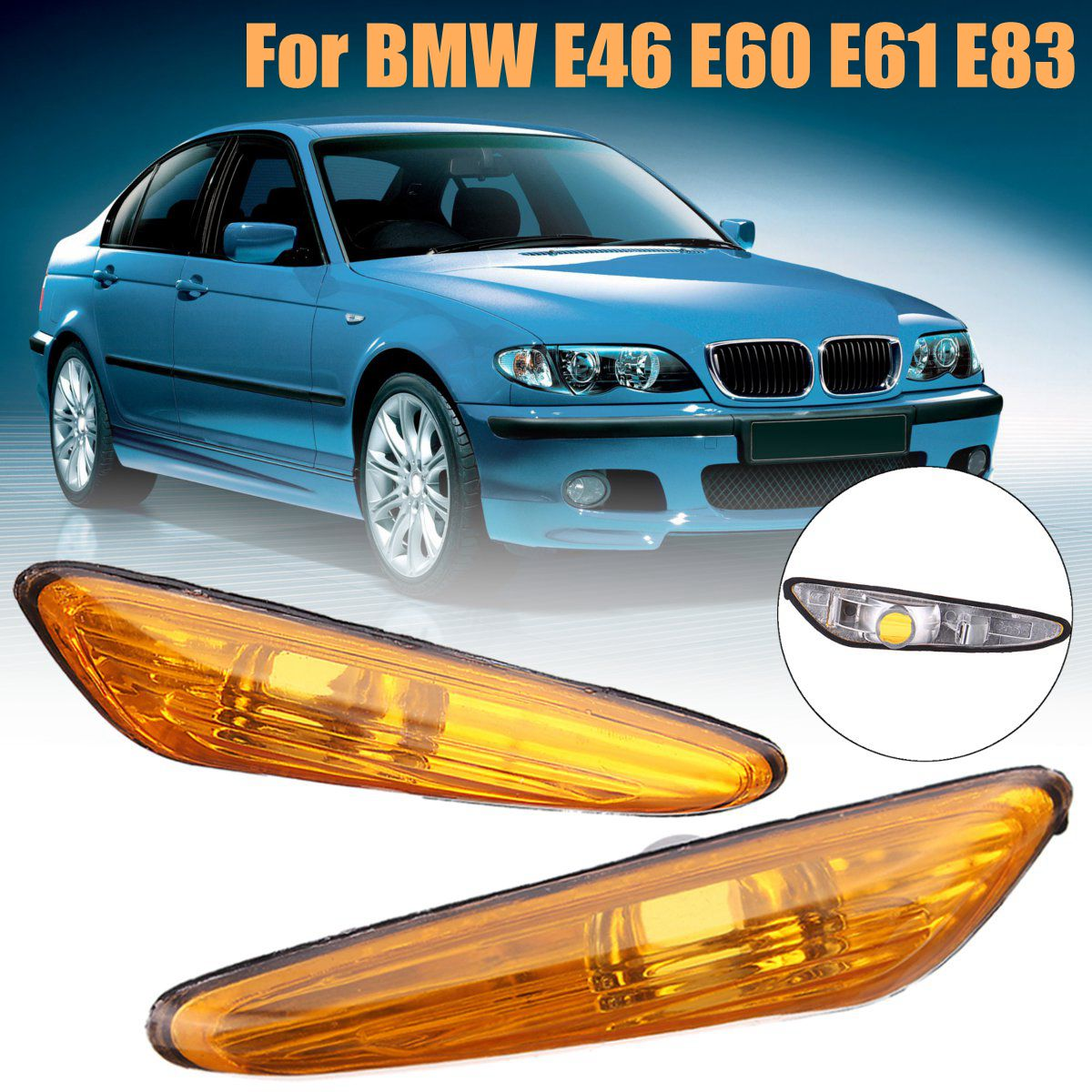 2X INDICATOR TURN SIGNAL WING RIGHT WHITE LEFT BMW 3-SERIES E46 X3 E83