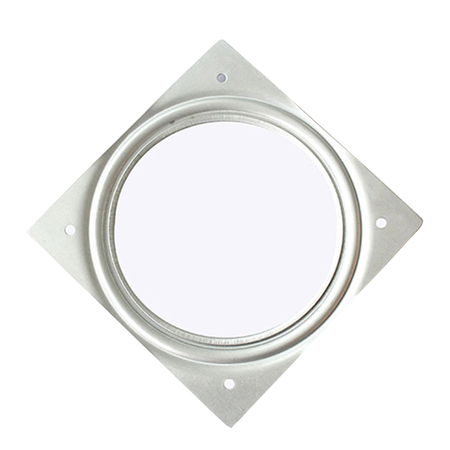 Swivel Plates United 3 Inch White Desk Display Stand For Dining Table Home Iron Plates 360 Degree Rotating Bearing Square Turntable Furniture