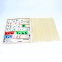 Montessori Mathematics Educational Materials Wooden Number Cards Counting Toy Banking Game Early Learning Toy for Chilren Kids