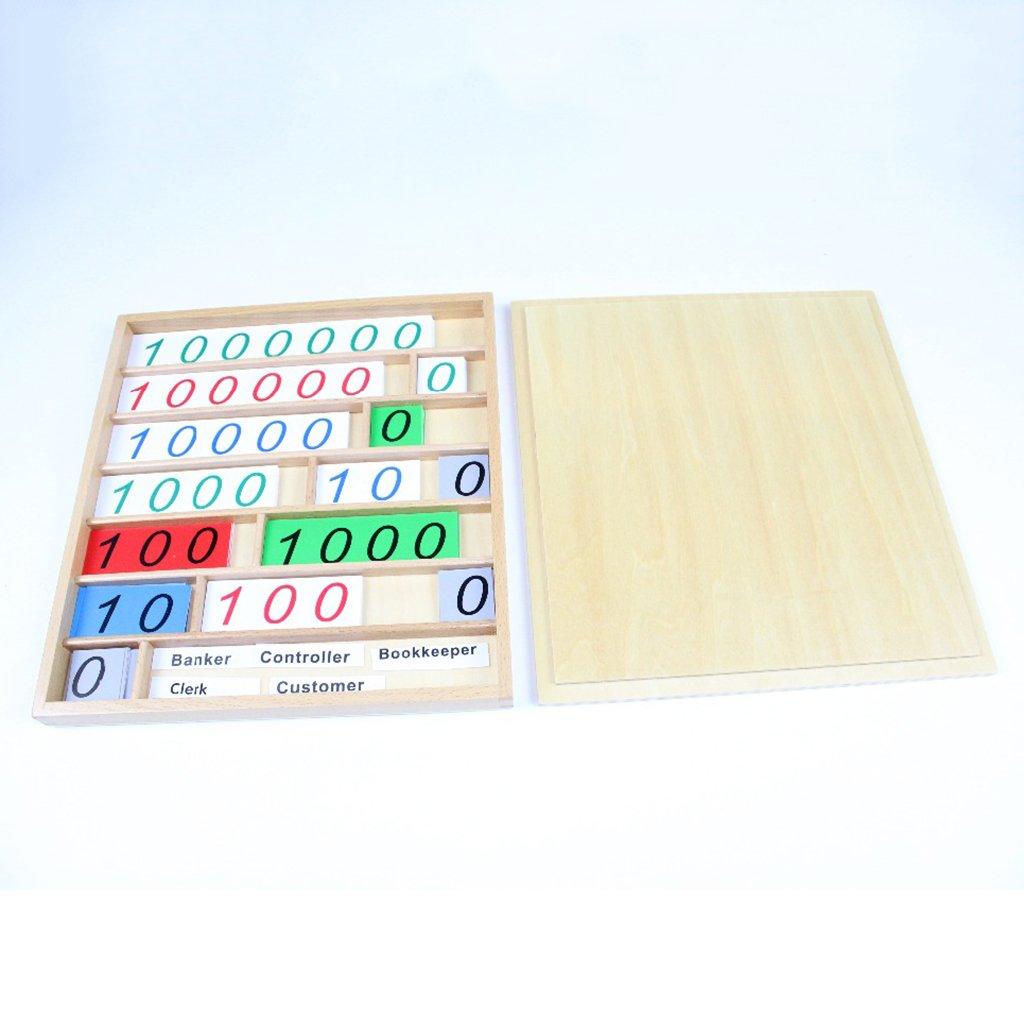 Montessori mathématiques matériel éducatif en bois nombre cartes comptage jouet jeu bancaire jouet d'apprentissage précoce pour enfants
