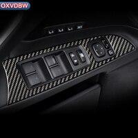 For LEXUS IS250C 300 350C Carbon Fiber Window Lifter Control Frame Switch Armrest Panel Trim car Interior LHD RHD accessories