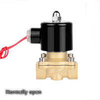 Normally open 1/2 3/4 1 DN15 DN20 DN25 AC220V DC12V 24V Electric Solenoid Pneumatic Valve for Water Oil Air Gas NO