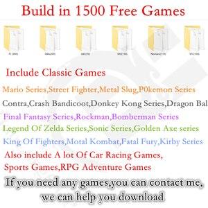 Image 2 - Retro Arcade video game console 8 GB geheugenkaart met 1500 gratis games ondersteuning TV Out Draagbare Gaming Console voor ps1 voor neogeo