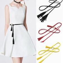 Women Lady Skinny Vintage Buckle Waist Belt Elastic Stretch Cinch Waistband New