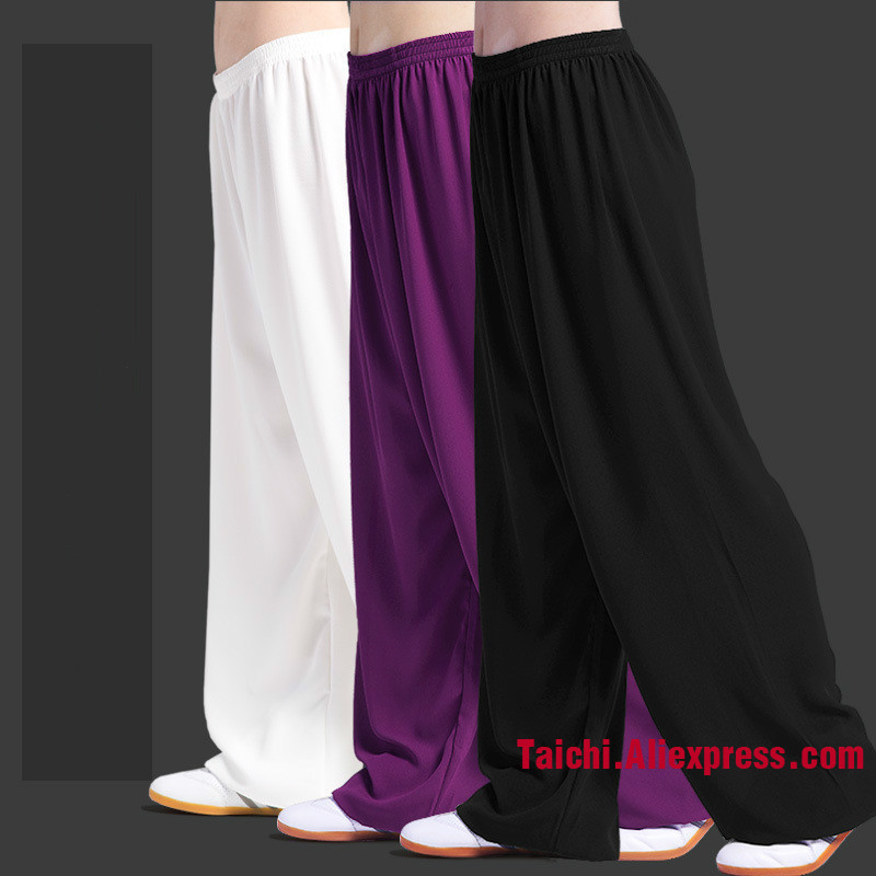 Elasticity Pants Male Tai Chi Clothing Practice Pants Woman  Martial Art Pants Stretch Kung Fu Pants Quick Drying 8 Colors