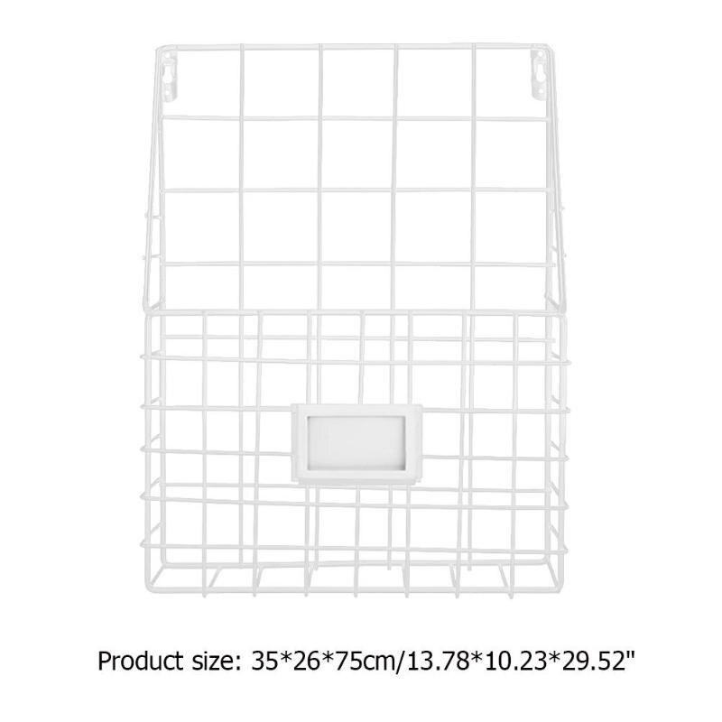 Простой железный настенный стеллаж для хранения, металлическая настенная полка для хранения, настольный держатель, органайзер для журналов для дома, спальни