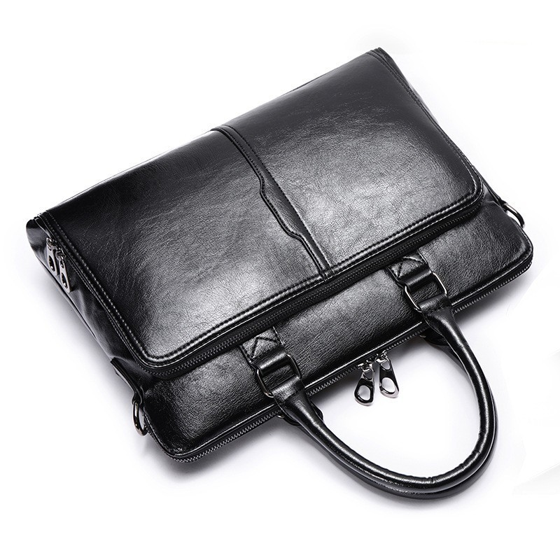 Fashion Men Messenger Bags Leather Shoulder Crossbody Bolso Hombre Business Travel Laptop Briefcase Man Handbag Bolsa Masculina